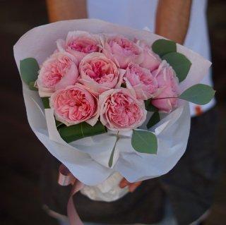 ダズンローズブーケ(ピンクバラ12本の花束)