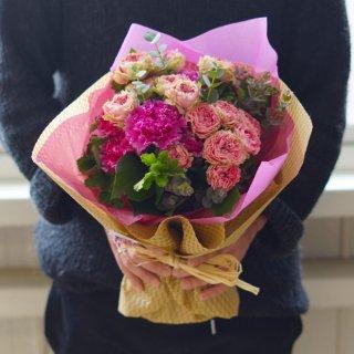 ニッコリ笑顔の花束(結婚祝いに)
