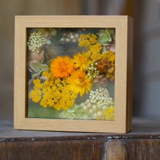 Le chanion mini flower wall orange【ルシェノン ミニ フラワー ウォール オレンジ】