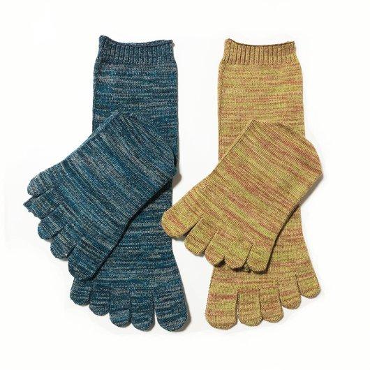 あしゆびゆったり靴下(シルクコットン2重編み)男女両サイズ