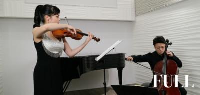 国際的ヴァイオリニスト・石上 真由子と、気鋭のチェリスト・荒井 結の超絶オーバーラップ