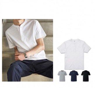 5.6オンス ヘンリーネック Tシャツ:United Athle urban label-【5004-01】