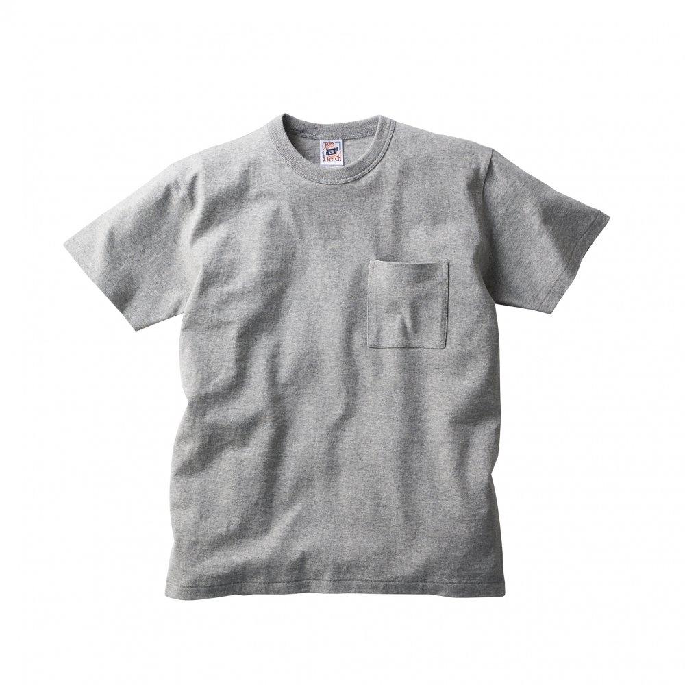 オープンエンド マックスウェイト バインダーネック ポケットTシャツ:TRUSS-【OE1119】