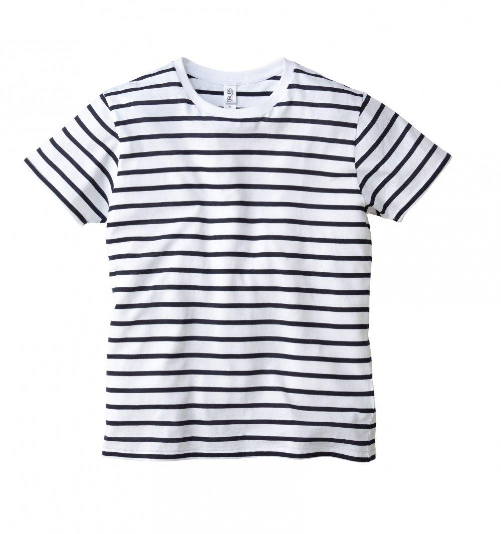ナローボーダー Tシャツ:TRUSS-【SNB-141】