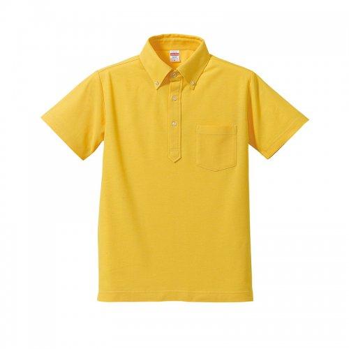 230円ポロシャツ無地(税込み253円)5.3オンス ドライカノコ ユーティリティー ポロシャツ(ボタンダウン)(ポケット付)