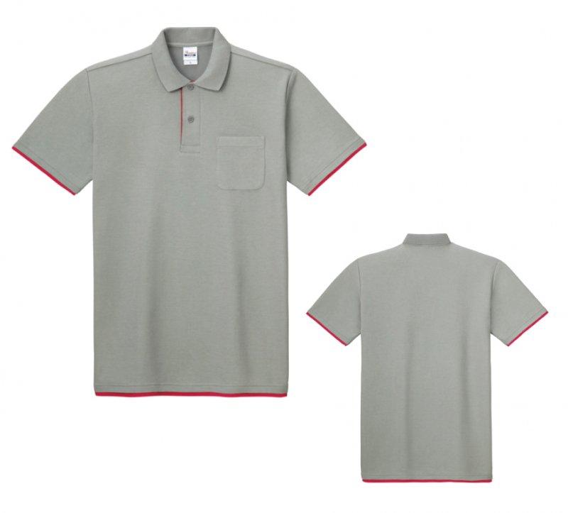 ベーシックレイヤードポロシャツ(ポケット付)無地5.8ozプリントスター195-BYP