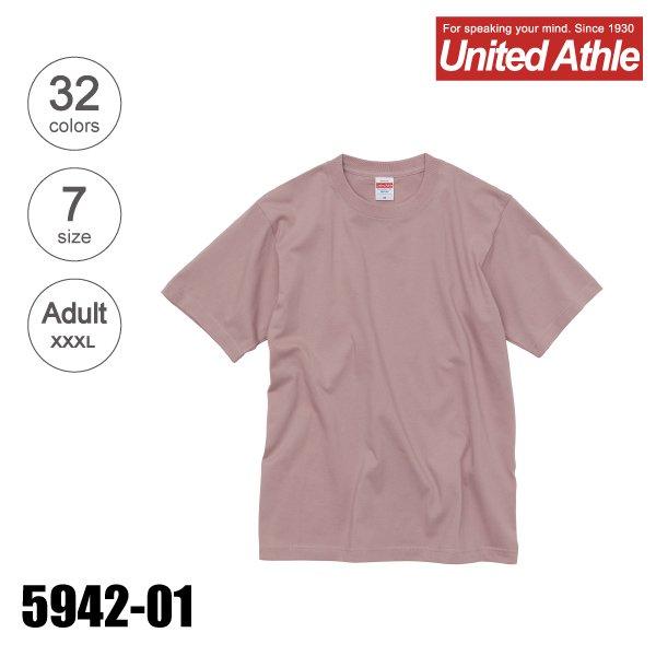 5942-01 6.2オンス プレミアム無地Tシャツ(XXXL)★ユナイテッドアスレ(United Athle)