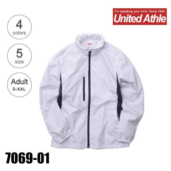 7069-01 マイクロリップストップフードインジャケット(裏フリース)(S〜XXL)★ユナイテッドアスレ(United Athle)