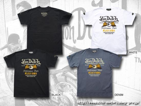 【Von Dutch motors】VOM-T26  T-Shirts