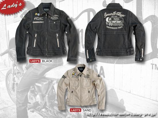 【Von Dutch motors】VOM-J16-Lady's Cotton Jackets