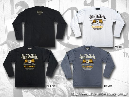【Von Dutch motors】VOM-LT27 Long Sleeve T-Shirt