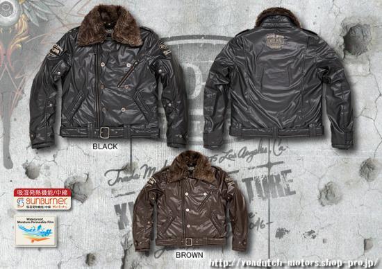 【Von Dutch motors】VOM-WJ27 PU Jackets