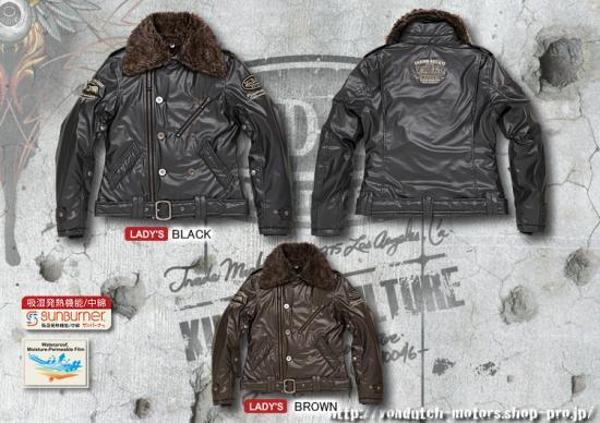 【Von Dutch motors】VOM-WJ27-Lady's  PU Jackets