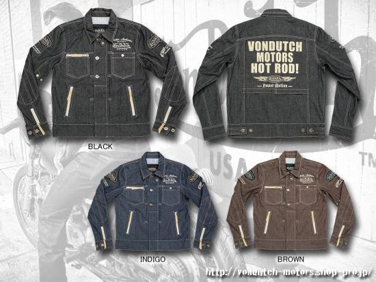 【Von Dutch motors】VOM-SJ03 Denim Jackets