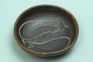 茄子絵小皿