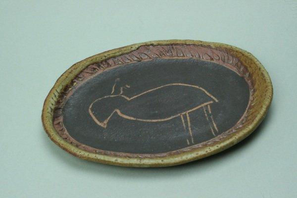 掻き落し絵皿シリーズ、ヤギ