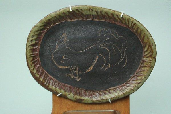 掻き落し絵皿シリーズ、ニワトリ