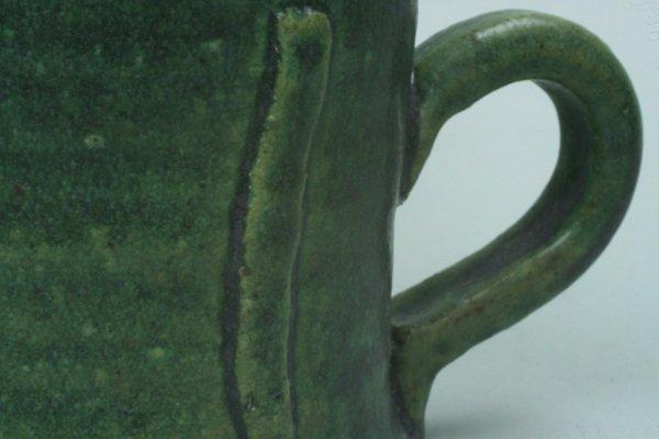 緑釉マグカップ