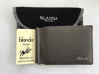 マネークリップ 札ばさみ  牛革 財布 エナメル ブラックブラウン 本革 メンズ BLANDA ベトナム製  オリジナル ギフト プレゼント
