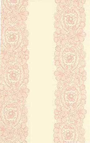 輸入クロス壁紙 ピンクレース柄