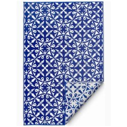 ファブハビタット サンフアン アウトドア ダイニング プラスチックラグ ブルー 【FabHabitat Earth San Juan Blue】