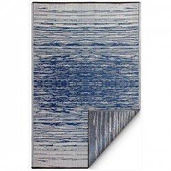 ファブハビタット ブルックリン アウトドア ダイニング プラスチックラグ ブルー 【FabHabitat Earth Brooklyn Blue】