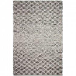 ファブハビタット ヴィンテージ風 リサイクルコットン 平織りラグ グレー 【FabHabitat Aurora - Gray - Cotton】
