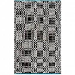 ファブハビタット リサイクルコットン 綿 平織りラグ ブラック【Fab Habitat Mukta - Black - Cotton】
