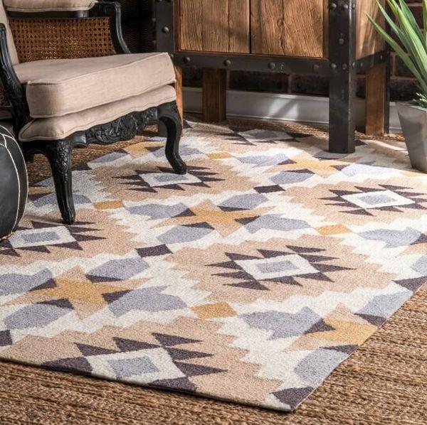 【Radiante BC68 Modern Navajo Rug】 ネイティブ柄ラグ マット カーペット 絨毯