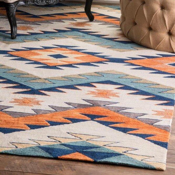 【Pampa AK01 Pyramid Maze Rug】 ネイティブ柄ラグ マット カーペット 絨毯
