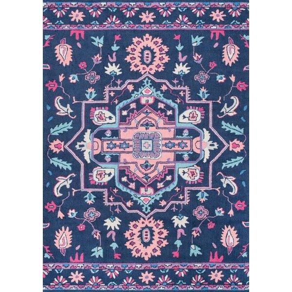 【Fergana UZB72 Hand Hooked Imperial Medallion Floral Rug】 輸入デザインラグ マット カーペット 絨毯