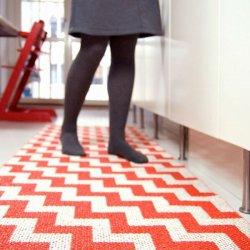 北欧 ブリタスウェーデン プラスチックラグマット ガンネル レッド【Brita Sweden Gunnel rug red】