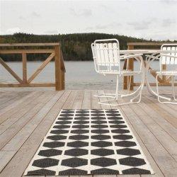 ブリタスウェーデン 北欧 プラスチック製 デザインラグ アナ ブラック【Brita Sweden Anna rug black】