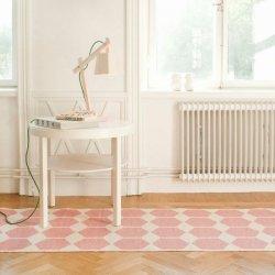 ブリタスウェーデン 北欧 プラスチック製 デザインラグ アナ ピンク【Brita Sweden Anna rug Pink Pastel】