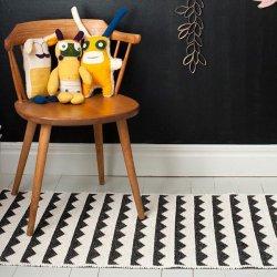 ブリタスウェーデン 北欧 プラスチック製 デザインラグ ギッタン ブラック【Brita Sweden Gittan rug black】