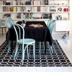 ブリタスウェーデン 北欧 プラスチック製 デザインラグ イングリッド ブラック【Brita Sweden Ingrid rug Black】
