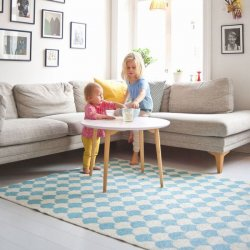 ブリタスウェーデン 北欧 プラスチック製 デザインラグ ゲルダ ブルー【Brita Sweden Gerda rug Pool Blue】