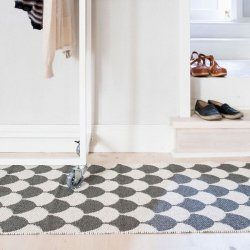 ブリタスウェーデン 北欧 プラスチック製 デザインラグ ゲルダ ブラック【Brita Sweden Gerda rug Granite】