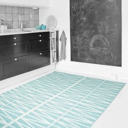 ブリタスウェーデン 北欧 プラスチック製 デザインラグ ヘルミ ターコイズ【Brita Sweden Helmi rug Turquoise】