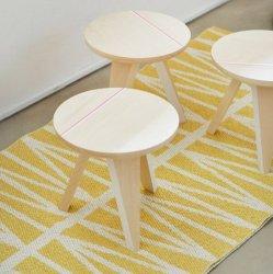 ブリタスウェーデン 北欧 プラスチック製 デザインラグ ヘルミ イエロー【Brita Sweden Helmi rug Yellow】