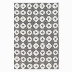 ブリタスウェーデン 北欧 プラスチック製 デザインラグ フラワー グレー【Brita Sweden Flower rug Stone (Grey)】