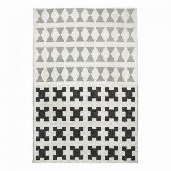 ブリタスウェーデン 北欧 プラスチック製 デザインラグ パリ ブラック/グレー【Brita Sweden Paris rug Beluga grey】
