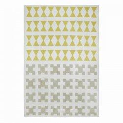 ブリタスウェーデン 北欧 プラスチック製 デザインラグ パリ イエロー/グレー【Brita Sweden Paris rug Yellow grey】