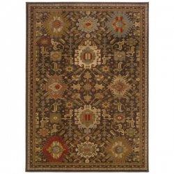 オリエンタル モダン ペルシャ柄 デザインラグ ブラウン【Oriental Weavers Casablanca 4444A Rug】