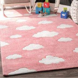 もくもく もこもこ 雲柄 キッズラグ ピンク【Serendipity Cloud EV28 Rug Pink】