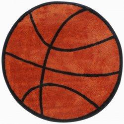 円形 バスケットボール柄 キッズラグ【Fun Shape Basketball Area Rug】