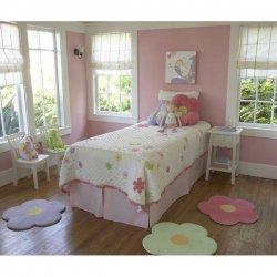 花柄 キッズラグ マット 3枚セット【3 Piece Daisy Flower Kids Area Rug Set】