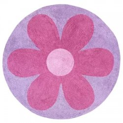 円形 花柄 キッズラグ マット【Daisies Collection Floor Rug】