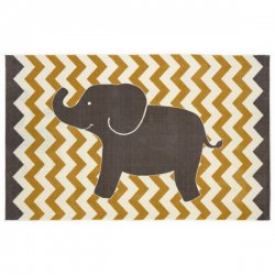 <img class='new_mark_img1' src='//img.shop-pro.jp/img/new/icons12.gif' style='border:none;display:inline;margin:0px;padding:0px;width:auto;' />【Mohawk Home Aurora Lucky Elephant Rug】 子供用ラグ キッズラグ ゾウさん マット カーペット 絨毯