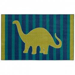 恐竜柄 ストライプ模様 キッズラグ【Mohawk Home Aurora Friendly Dinosaur Rug】